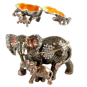 Elephant & Calf Trinket - Product number 9730443