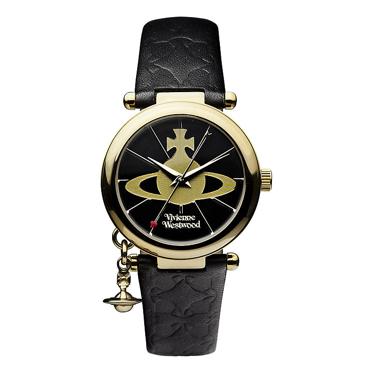 Vivienne Westwood ladies' gold plated orb strap watch - Product number 9732799