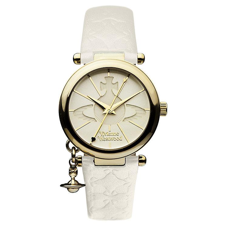 vivienne westwood ladies gold plated orb strap watch ernest jones vivienne westwood ladies gold plated orb strap watch product number 9732802