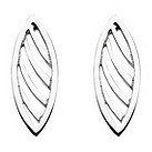 Kit Heath sterling silver Applique Leaf stud earrings - Product number 9733264