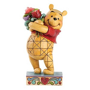 Disney Traditions Winnie The Pooh With Flowers