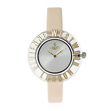 Vivienne Westwood ladies' silver dial cream strap watch - Product number 9733841