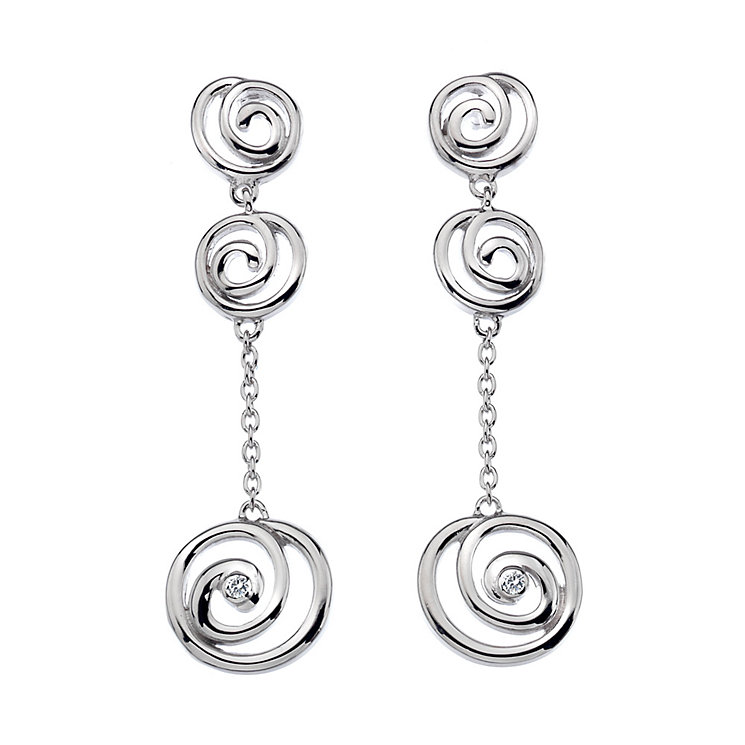 Hot Diamonds Triple Spiral Drop Earrings - Product number 9734600