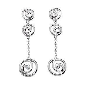 Hot Diamonds Triple Spiral Drop Earrings - Product number 9734600