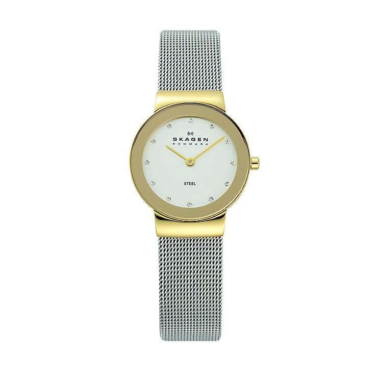 Skagen Ladies' White Dial Silver Mesh Bracelet Watch - Product number 9737421