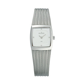 Skagen Ladies' Square Dial Steel Mesh Bracelet Watch - Product number 9737480