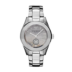 Emporio Armani ladies' grey mother of pearl bracelet watch - Product number 9737936