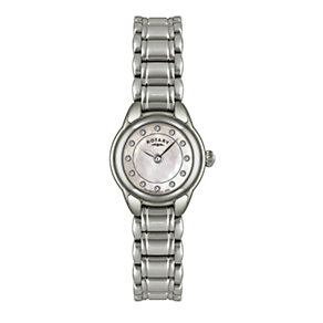Rotary Ladies' Pink Mother of Pearl Stone Set Bracelet Watch - Product number 9738053