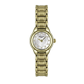 Rotary Ladies' Mother of Pearl Gold Plated Bracelet Watch - Product number 9738134
