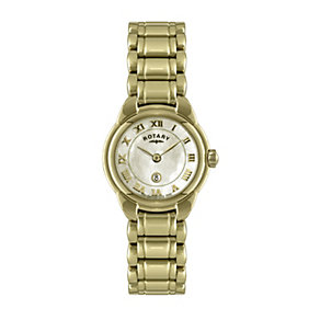 Rotary Ladies' Mother of Pearl Gold Plated Bracelet Watch - Product number 9738142
