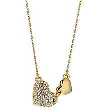 Gold Plated Double Heart Necklace - Product number 9740910