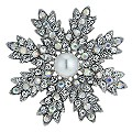 Starburst Crystal & Pearl Brooch - Product number 9741224