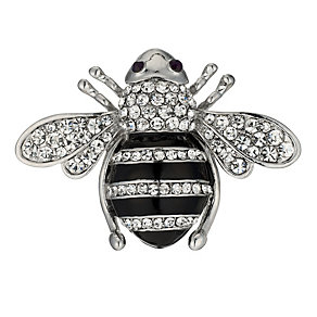 Stone Set Large Bee Brooch - Product number 9741240