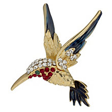 Gold Plated Kingfisher Bird Brooch - Product number 9741275