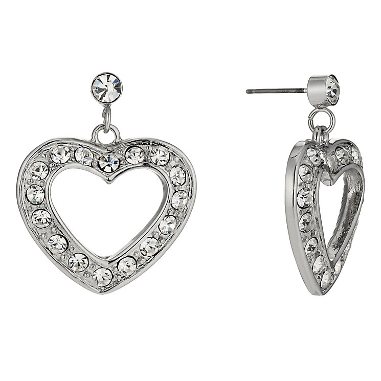 Crystal Heart Drop Earrings - Product number 9741348