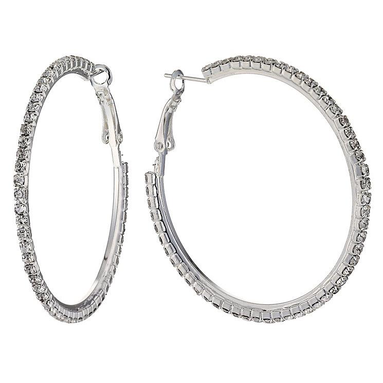 Medium Crystal Hoop Earrings - Product number 9741356