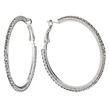 Medium Crystal Hoop Earrings - Product number 9741356