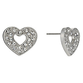 Crystal Heart Stud Earrings - Product number 9741399