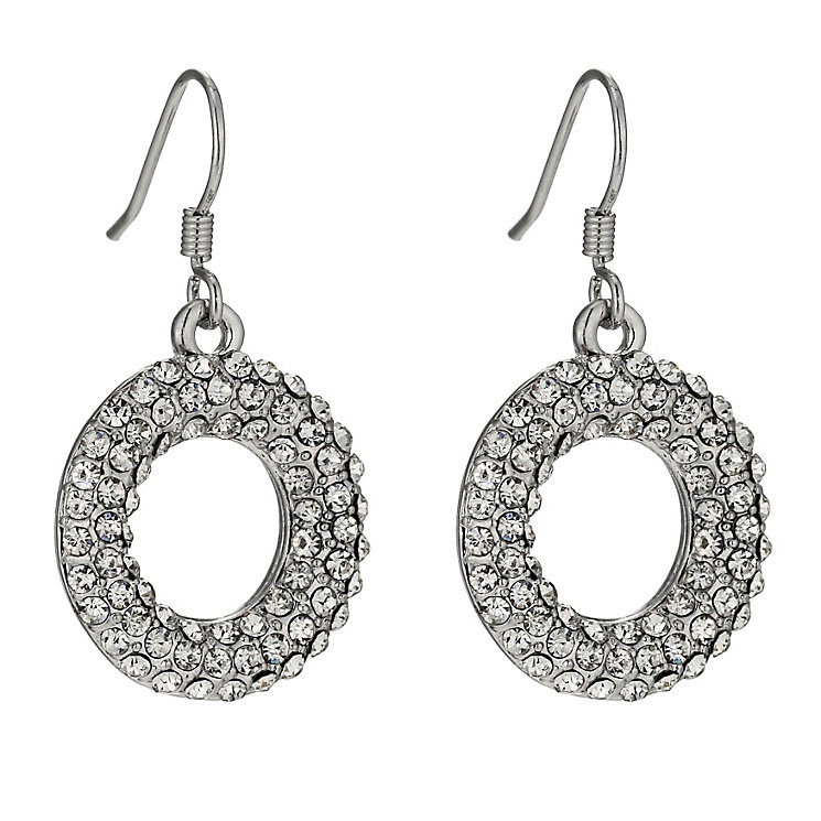 Crystal Donut Drop Earrings - Product number 9741437