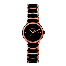Rado Centrix ladies' ceramic and rose gold PVD watch - S - Product number 9741860