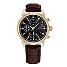 Bulova Acutron Gemini men's brown leather strap watch - Product number 9742433