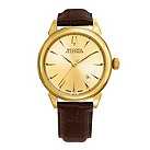 Bulova Accutron Gemini men's brown leather strap watch - Product number 9742506