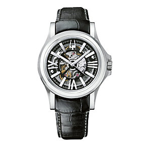 Bulova Accutron Kirkwood black leather strap watch - Product number 9742549