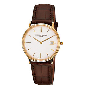 Frederique Constant men's gold-plated strap watch - Product number 9743308