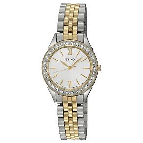 Seiko Ladies' Two Tone Stone Set Bracelet Watch - Product number 9743472