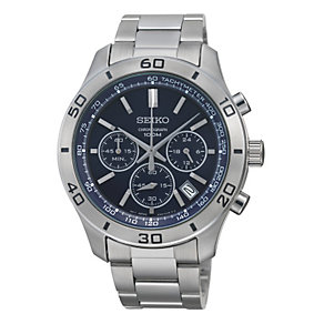 Seiko Men's Stainless Steel Chronograph Watch - Product number 9743480