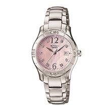 Casio Sheen Ladies' Pink Mother of Pearl Dial Bracelet Watch - Product number 9743669