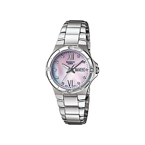 Casio Sheen Ladies' White Mother of Pearl Bracelet Watch - Product number 9743677