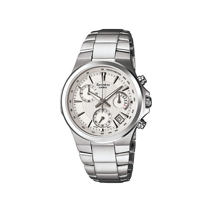 Casio Sheen Ladies' Silver Multi Dial Bracelet Watch - Product number 9743758