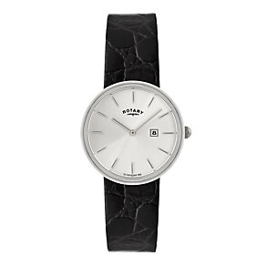 Rotary men's black leather strap watch - Product number 9744754