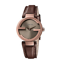 Gucci Interlocking G ladies' brown strap watch small - Product number 9747540