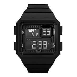 Adidas Curitiba Men's Black Silicone Watch - Product number 9748962