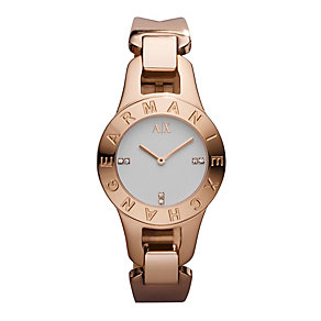 Armani Exchange Ladies' Rose Gold Plated Bracelet Watch - Product number 9749098