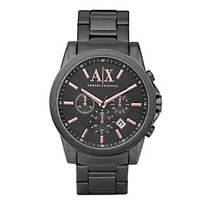 Armani Exchange Men's Grey Ion Plated Bracelet Watch - Product number 9749101