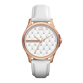 Armani Exchange Ladies White Watch With Swarovski Crystals - Product number 9749195