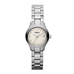 Fossil Men's Silver Dial Stainless Steel Bracelet Watch - Product number 9749306