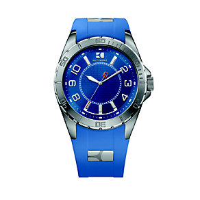 Hugo Boss Orange Men's Stainless Steel Blue Strap Watch - Product number 9754547