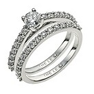 Leo Diamond 18ct white gold 1 carat I-I1 diamond bridal set - Product number 9755268
