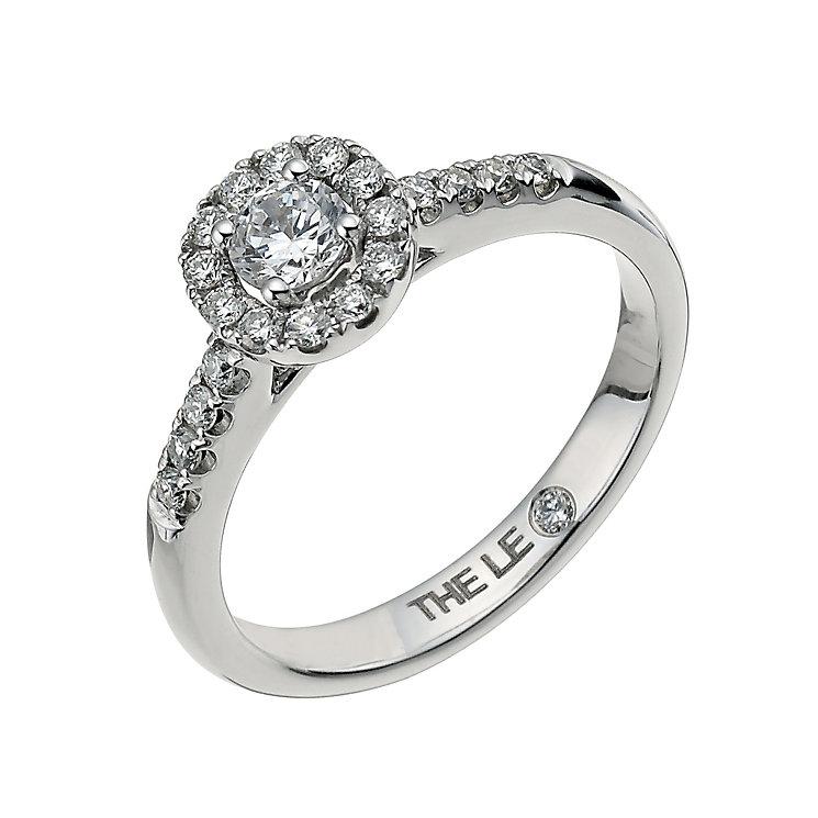 Leo Diamond18ct white gold 0.50ct I-I1 round halo ring - Product number 9755888