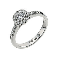 Leo Diamond18ct white gold 0.50ct I-I1 round halo ring - Product number 9755888