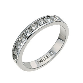Leo 18ct white gold 0.50ct I-I1 diamond eternity ring - Product number 9756019