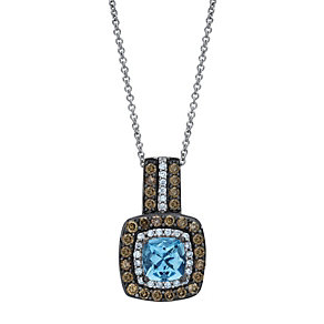 Le Vian 14ct Vanilla Gold diamond & Aquamarine pendant - Product number 9757198