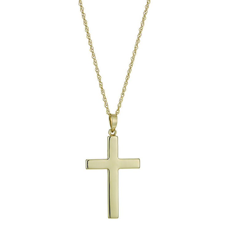 """Together Bonded Silver & 9ct Gold Two Colour Cross 18"""" - Product number 9757309"""