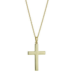 Together Bonded Silver & 9ct Gold Two Colour Cross 18