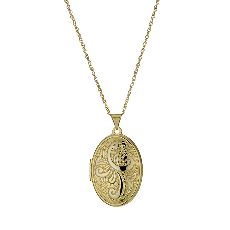 """Together Bonded Silver & 9ct Gold 18"""" Oval Locket - Product number 9757368"""