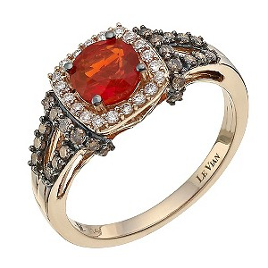 Le Vian 14ct Strawberry Gold Diamond Amp Fire Opal Ring